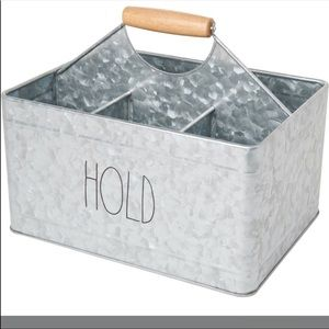 Rae Dunn Hold stainless steel caddy
